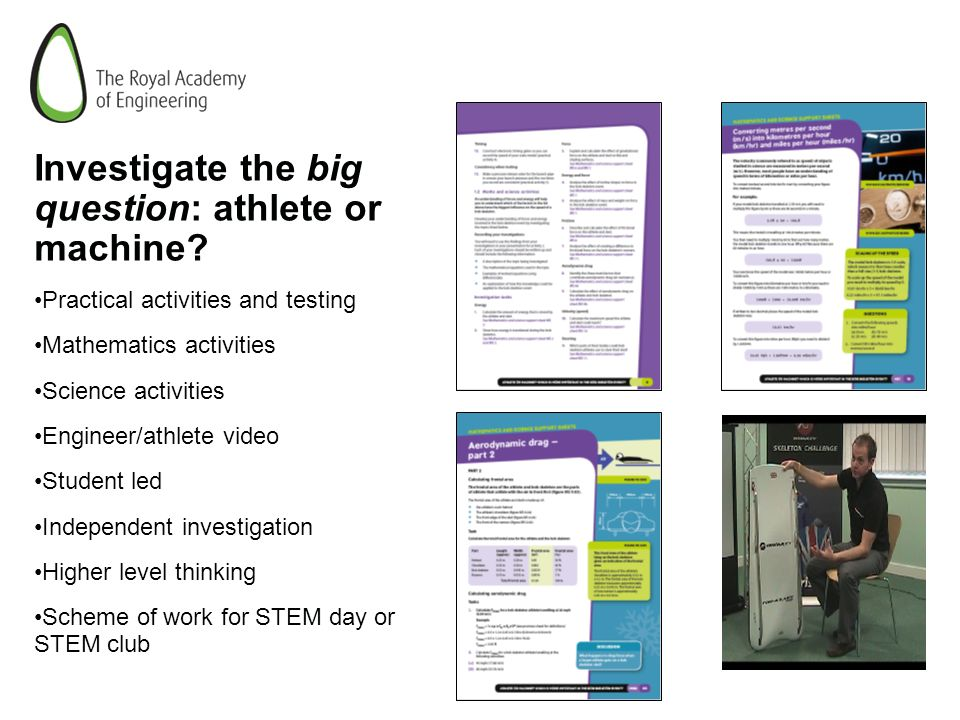Investigate the big question: athlete or machine