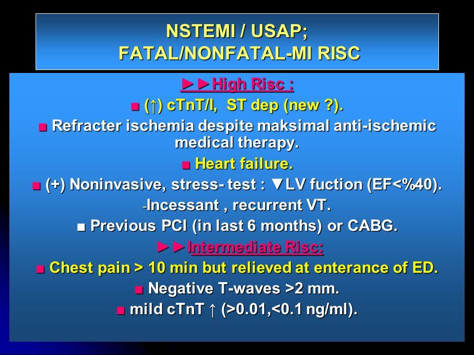 NSTEMI / USAP; FATAL/NONFATAL-MI RISC