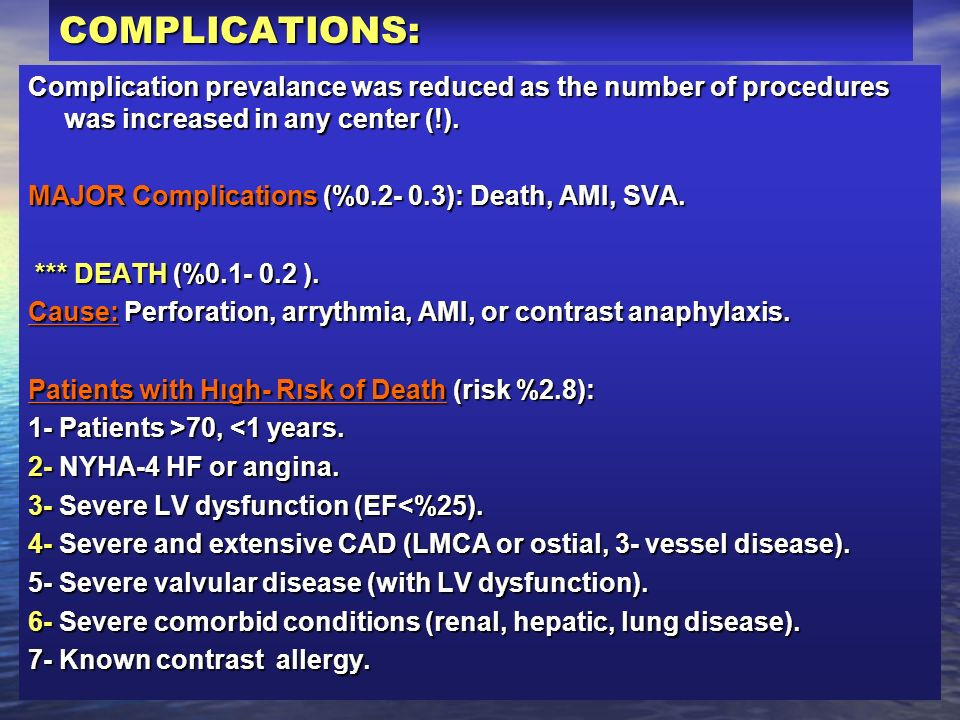 COMPLICATIONS:Complication prevalance was reduced as the number of procedures was increased in any center (!).