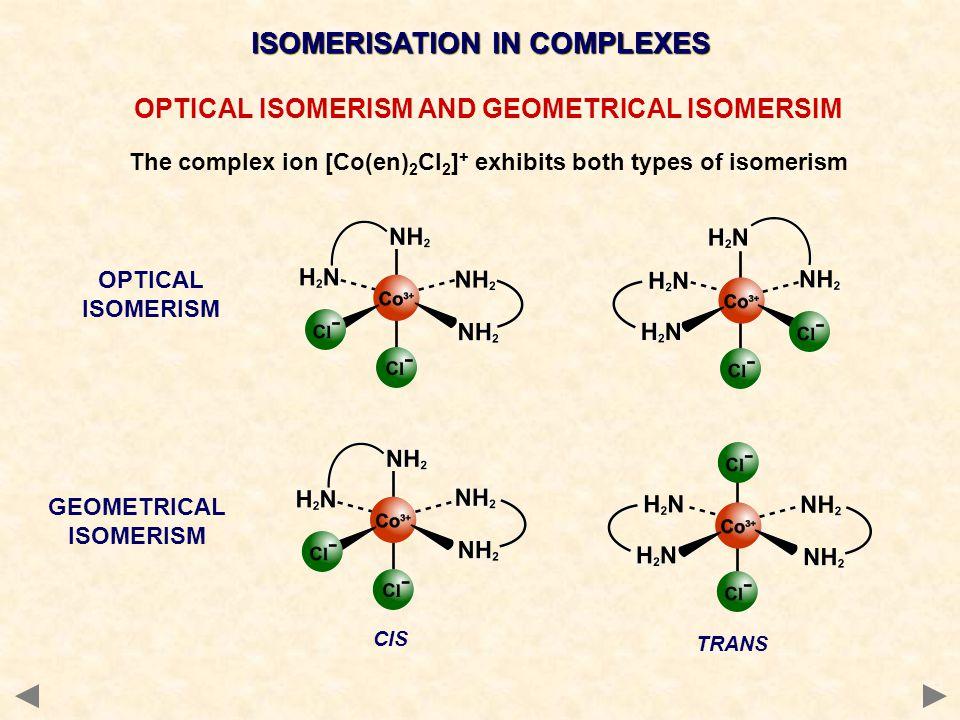 ISOMERISATION IN COMPLEXES