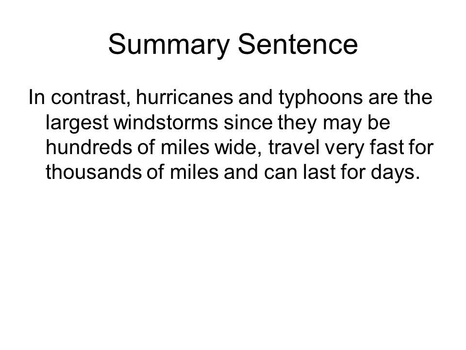 Summary Sentence