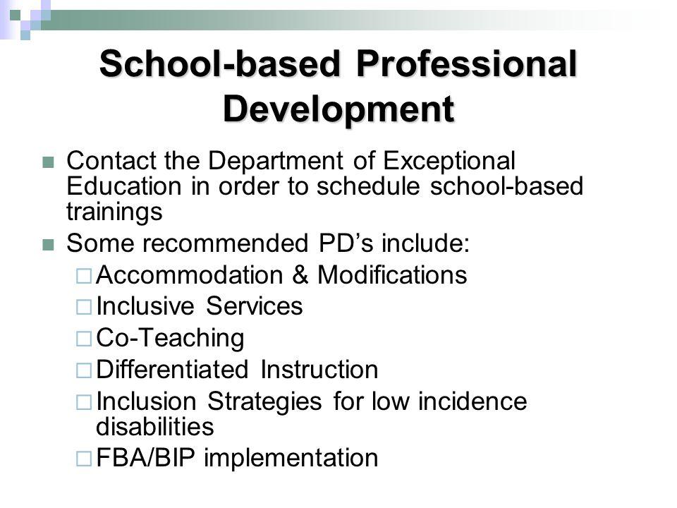 School-based Professional Development