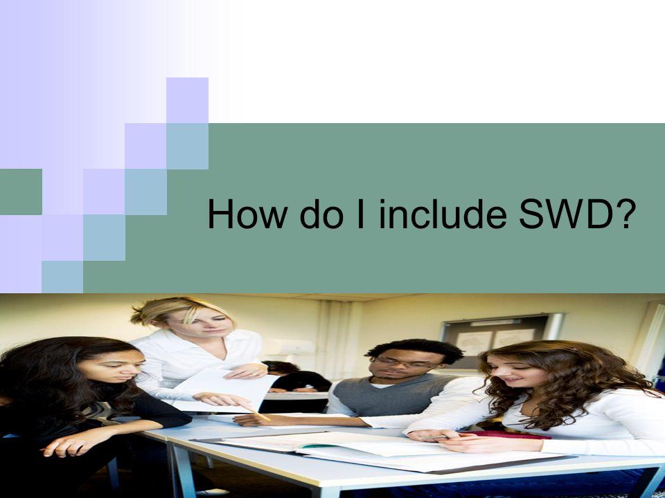 How do I include SWD