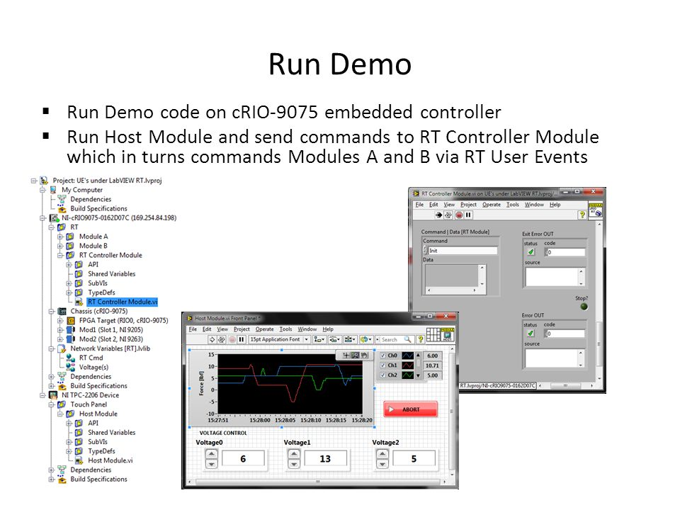 Run Demo Run Demo code on cRIO-9075 embedded controller