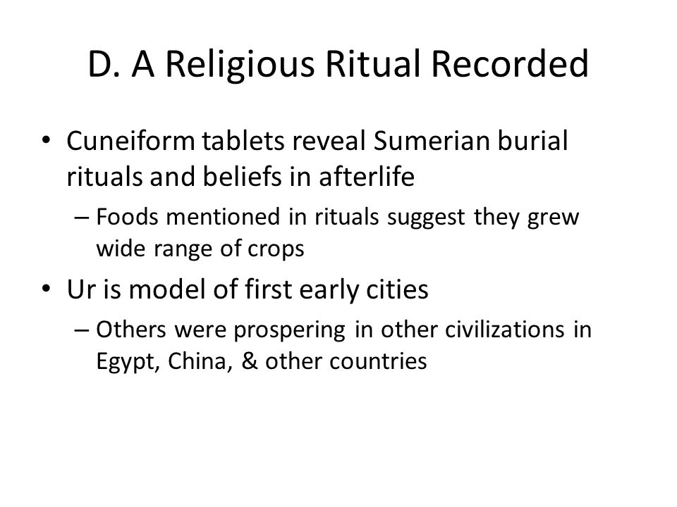 D. A Religious Ritual Recorded