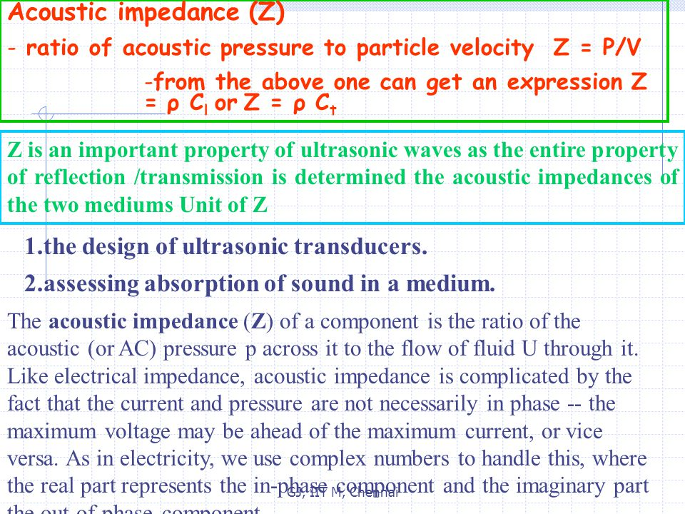 Acoustic impedance (Z)
