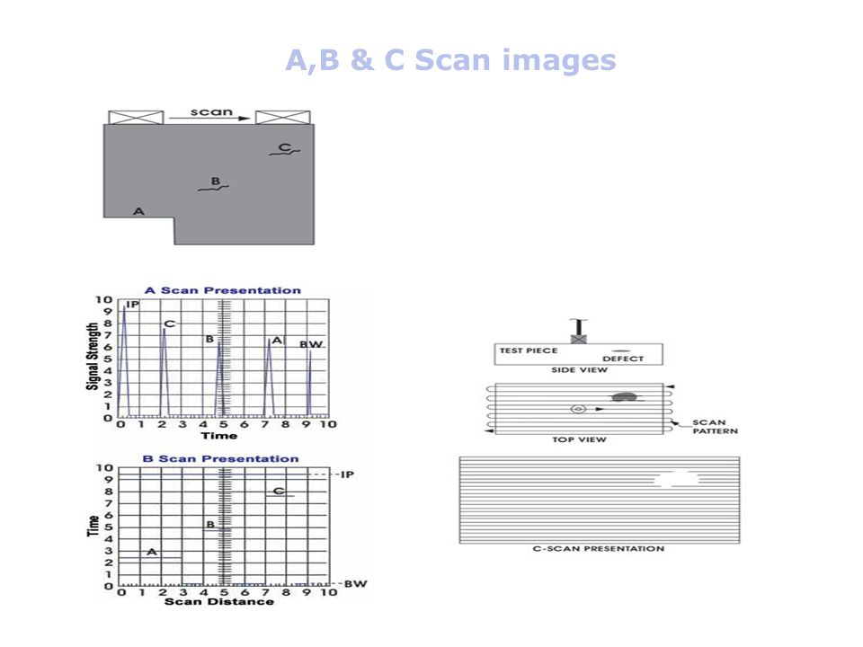 A,B & C Scan images .