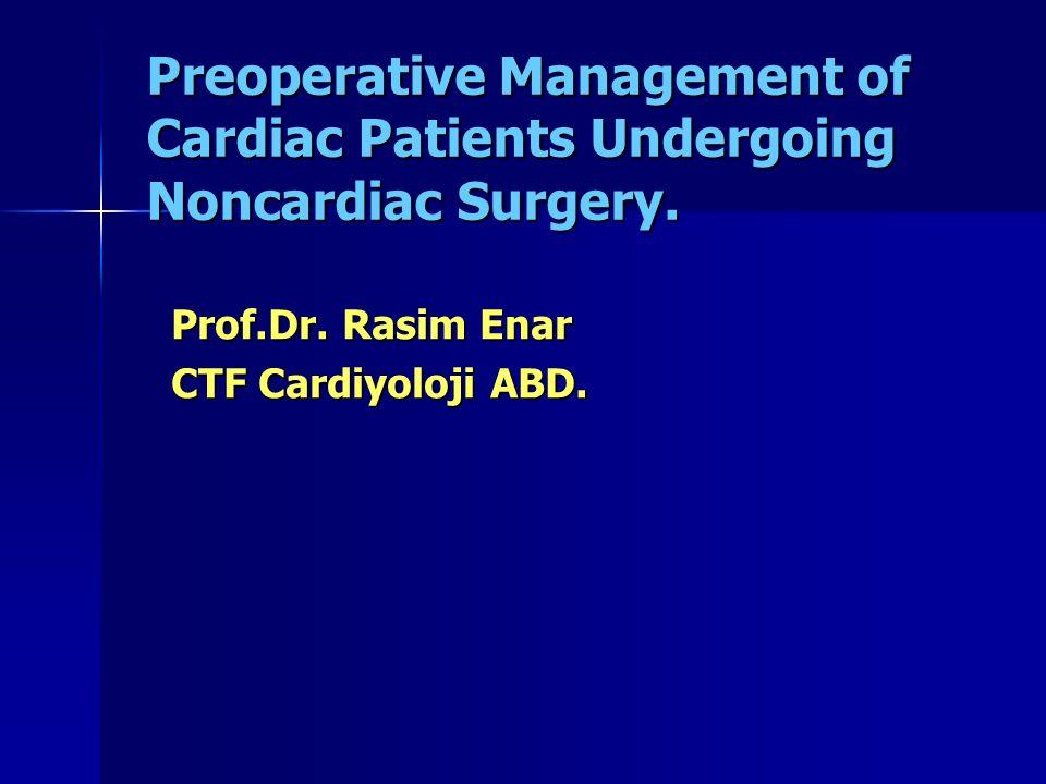 Prof.Dr. Rasim Enar CTF Cardiyoloji ABD.