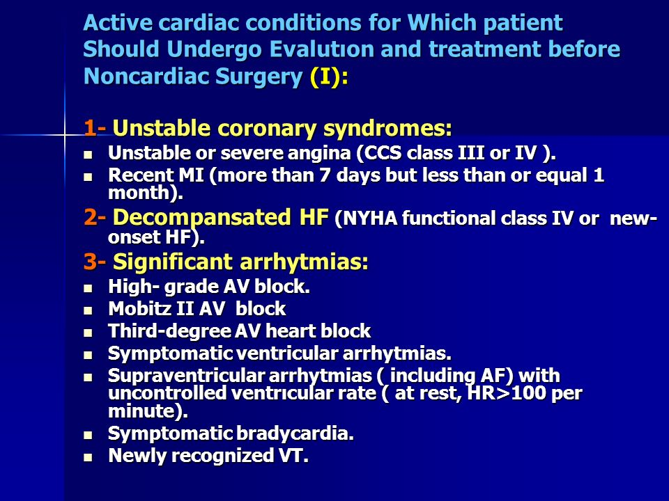 1- Unstable coronary syndromes:
