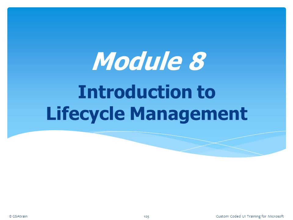 Introduction to Lifecycle Management