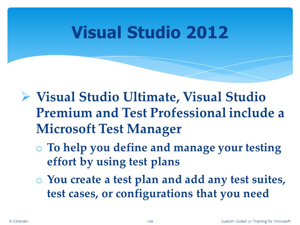 Coded UI Testing October, 2012. Visual Studio 2012.