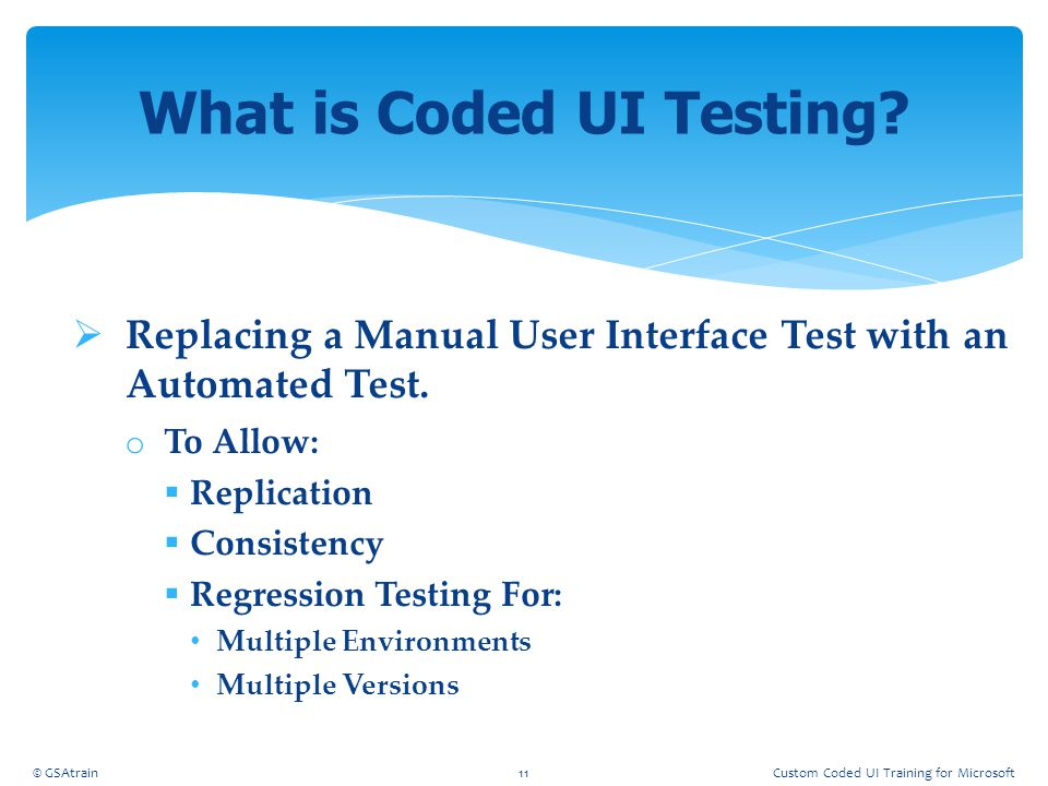 What is Coded UI Testing