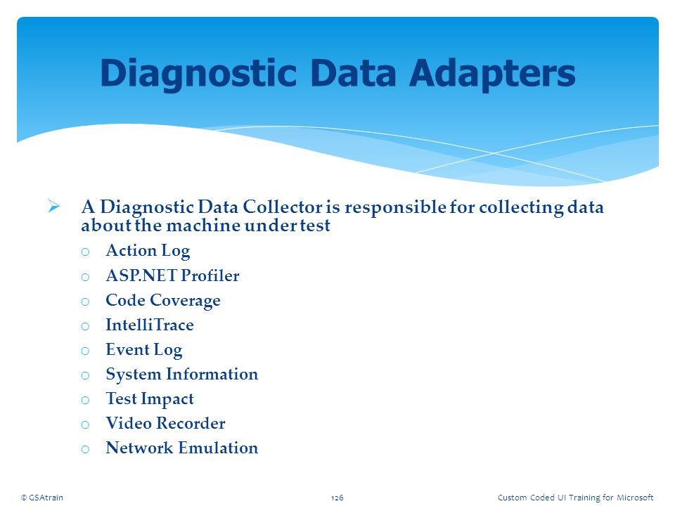 Diagnostic Data Adapters