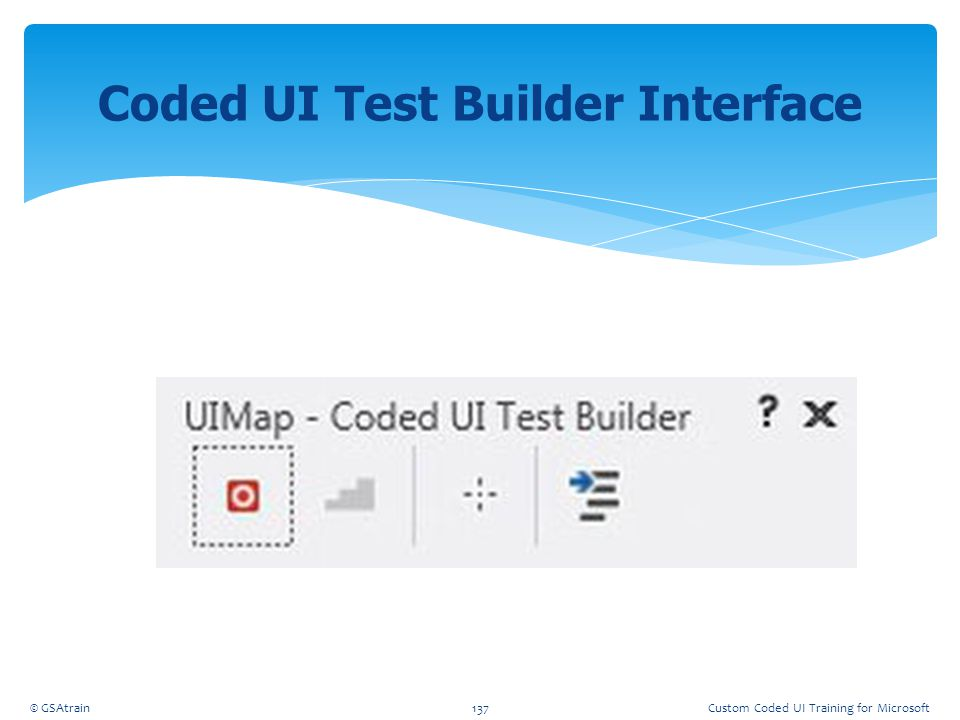 Coded UI Test Builder Interface