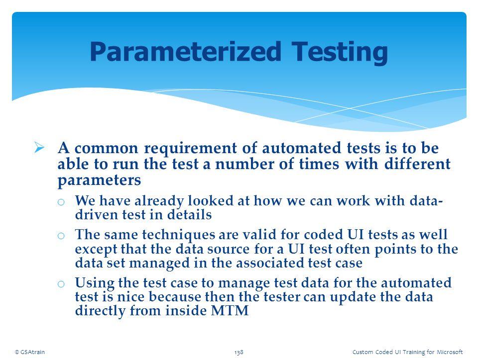 Parameterized Testing