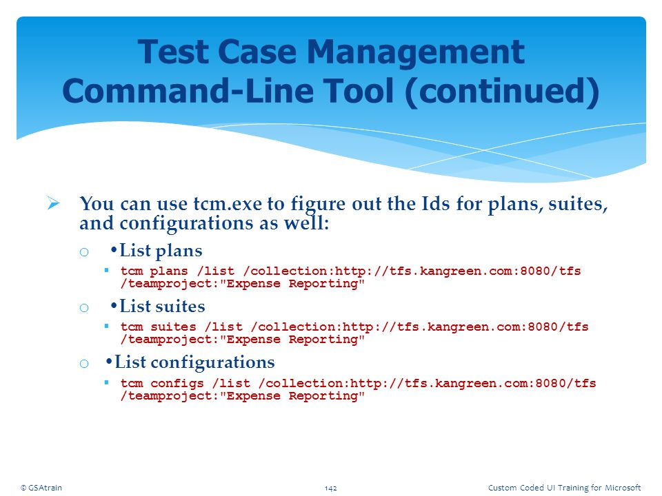 Test Case Management Command-Line Tool (continued)