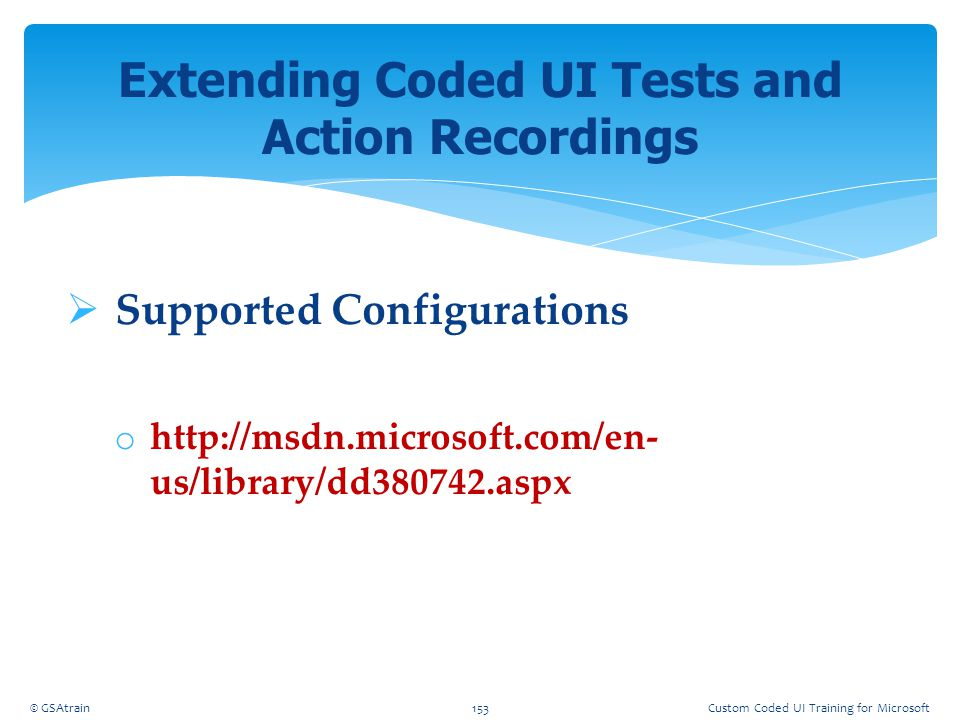 Extending Coded UI Tests and Action Recordings