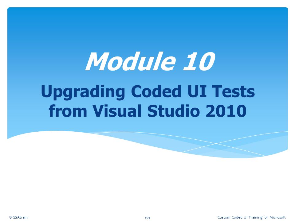 Upgrading Coded UI Tests from Visual Studio 2010