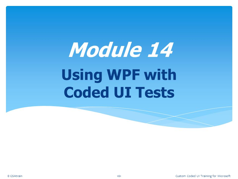 Using WPF with Coded UI Tests
