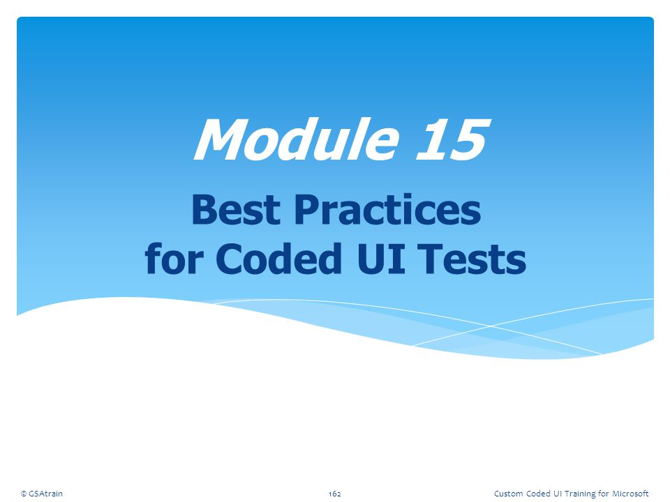 Best Practices for Coded UI Tests