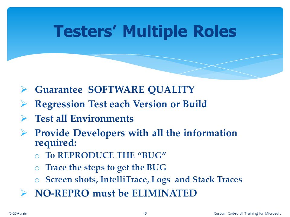 Testers' Multiple Roles