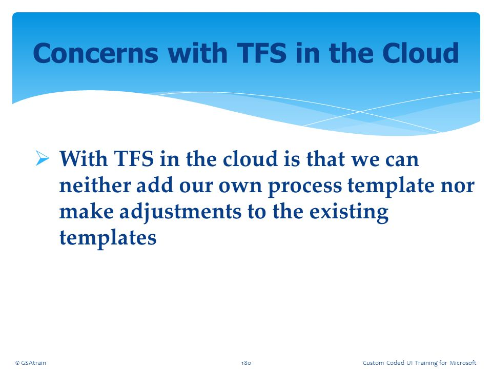 Concerns with TFS in the Cloud