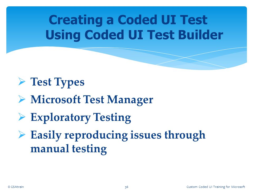 Creating a Coded UI Test Using Coded UI Test Builder