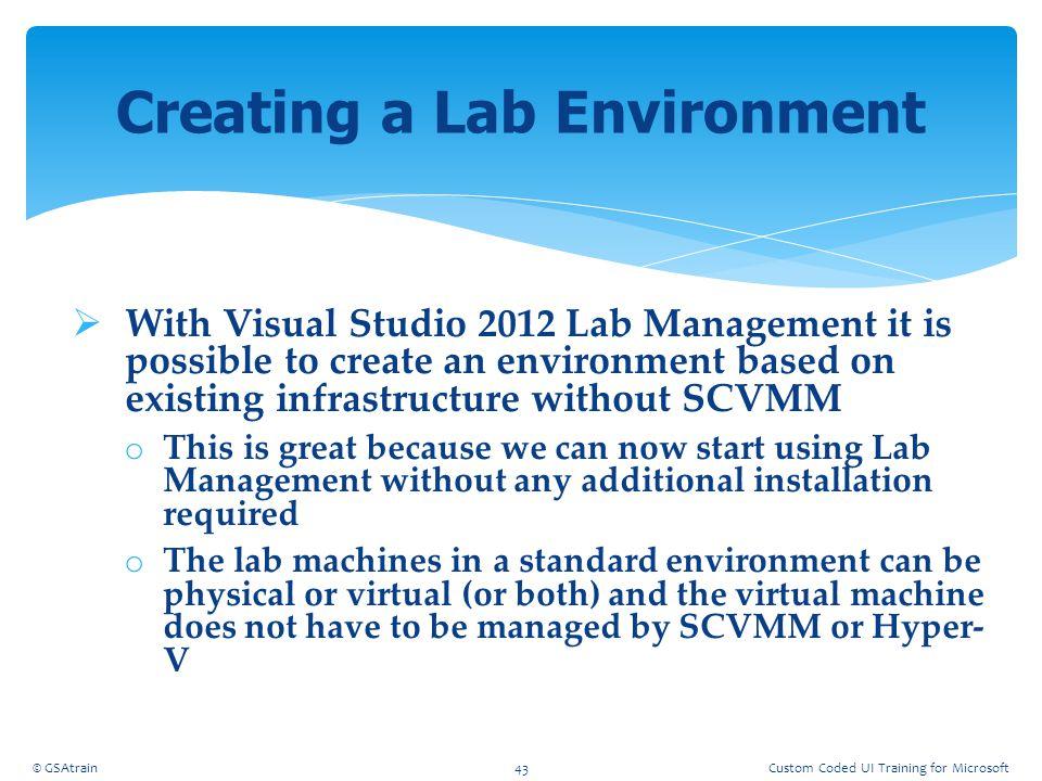 Creating a Lab Environment