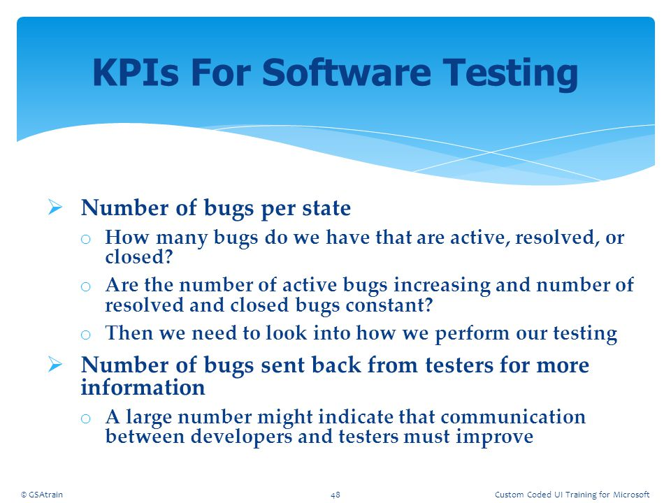 KPIs For Software Testing
