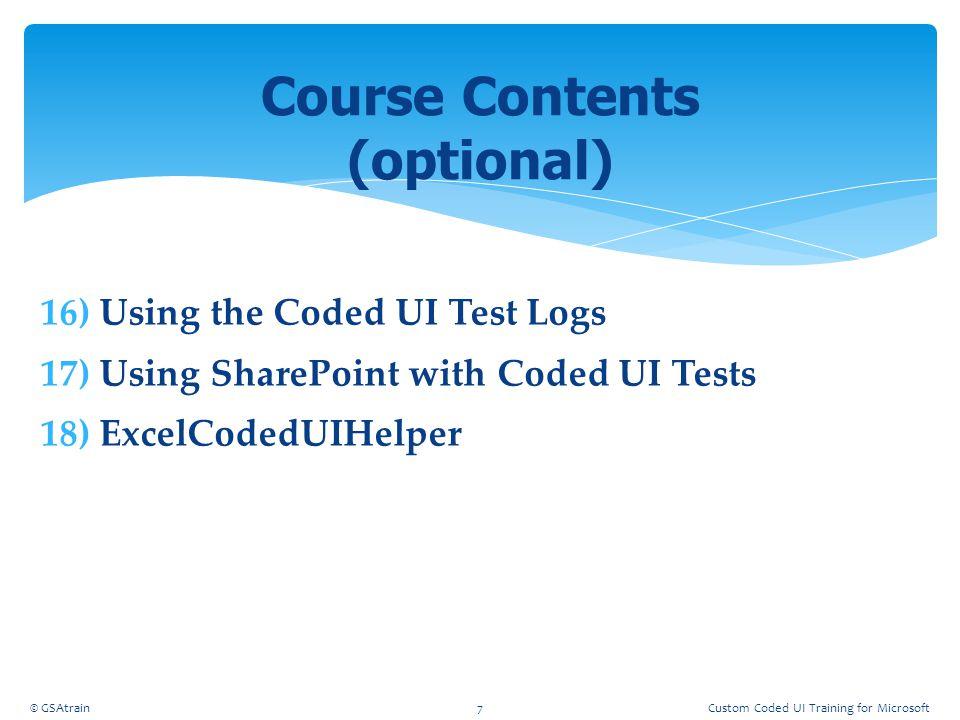 Course Contents (optional)
