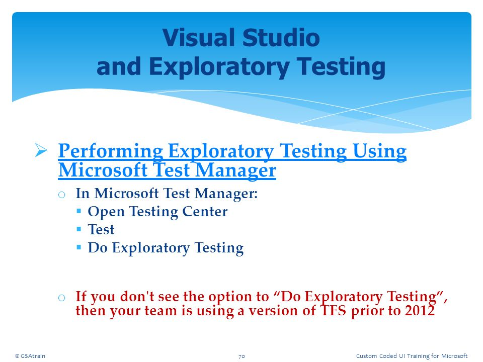 Visual Studio and Exploratory Testing