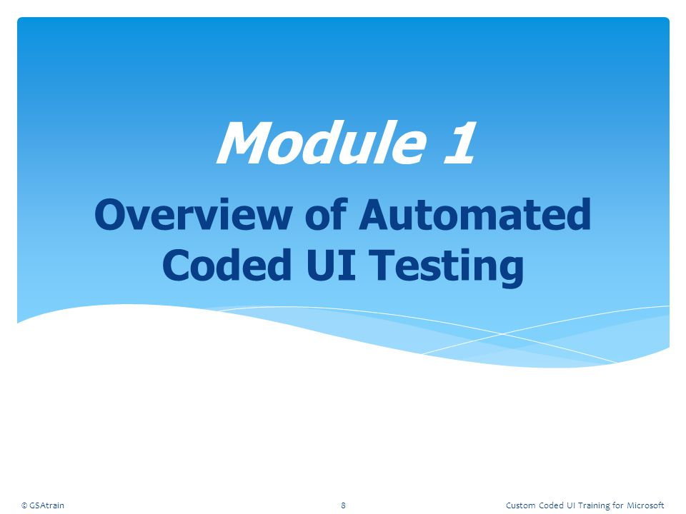 Overview of Automated Coded UI Testing