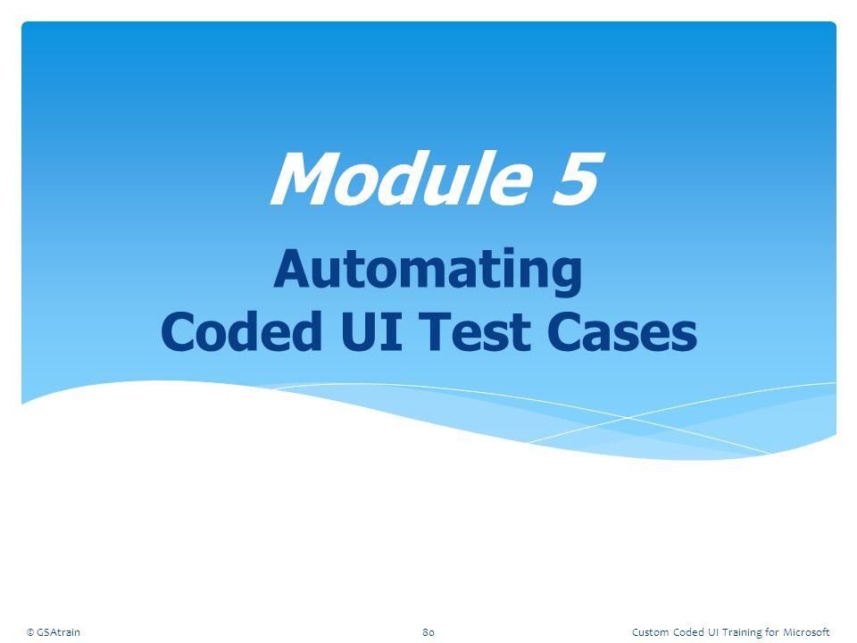 Automating Coded UI Test Cases