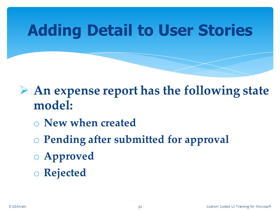 Adding Detail to User Stories