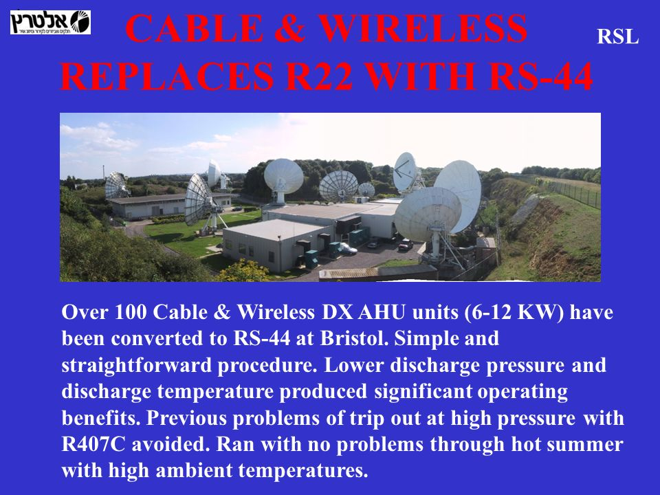 CABLE & WIRELESS REPLACES R22 WITH RS-44