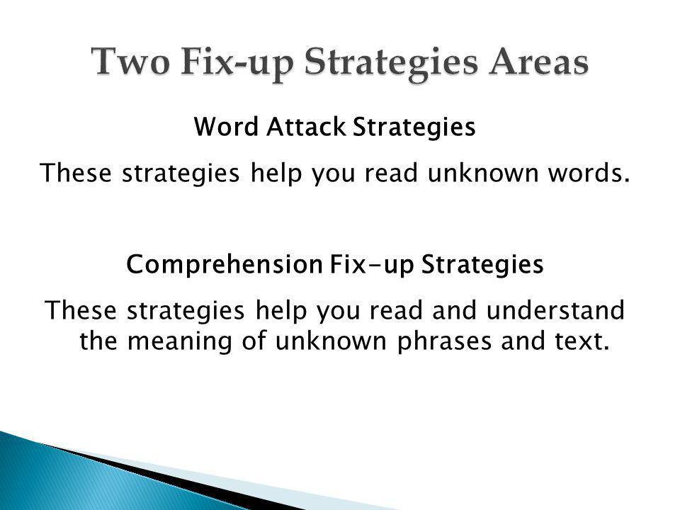 Two Fix-up Strategies Areas
