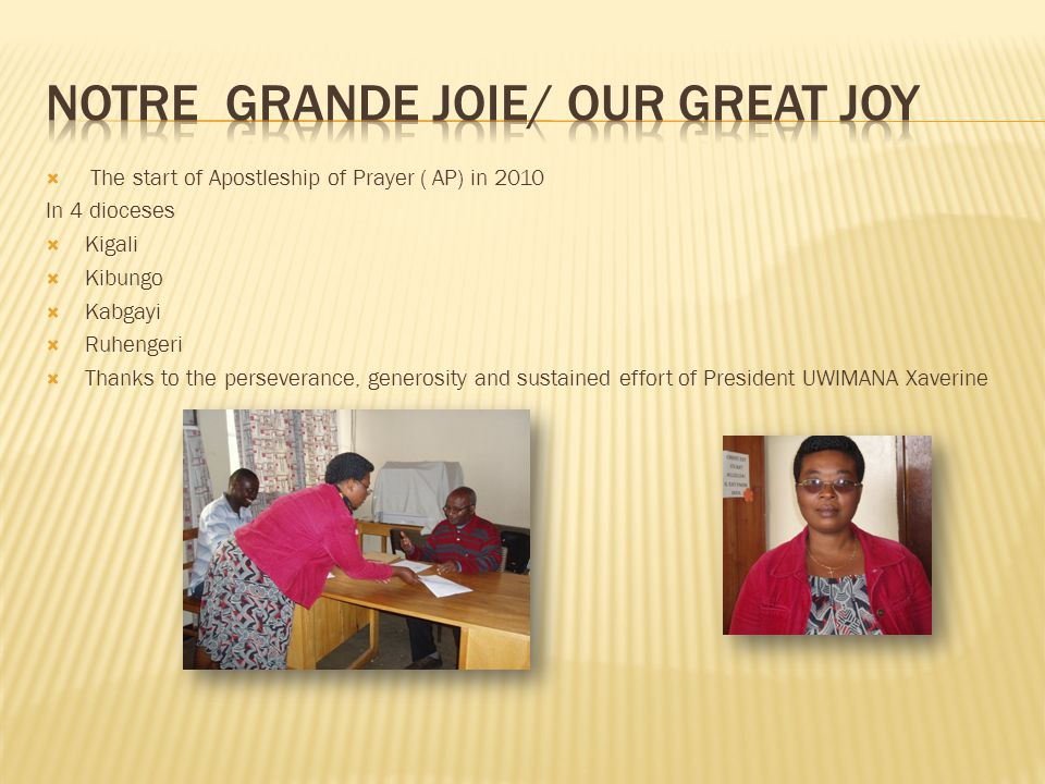 Notre grande joie/ our great joy
