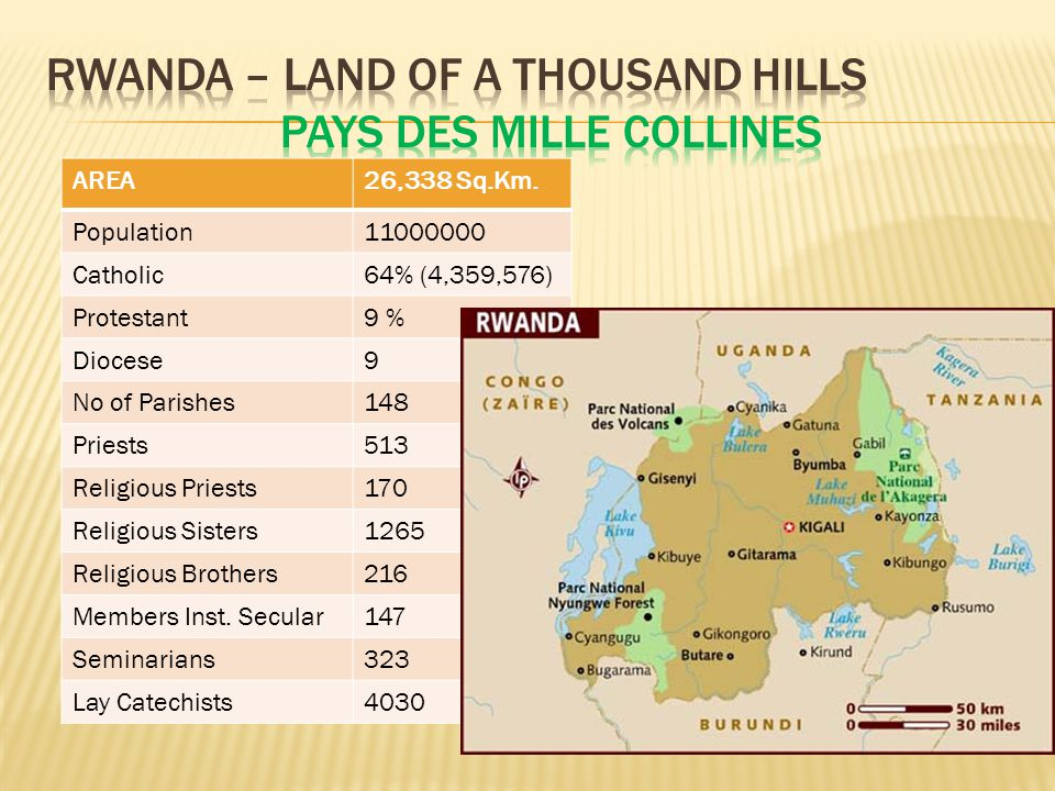 Rwanda – Land of a thousand hills PAYS DES MILLE COLLINES