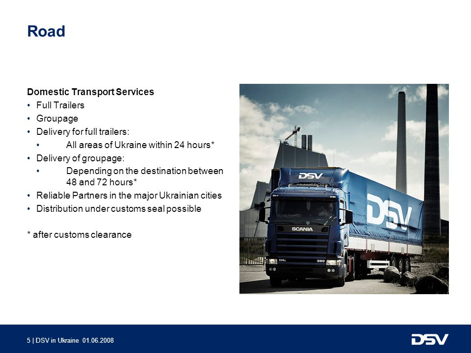 Road Domestic Transport Services Full Trailers Groupage