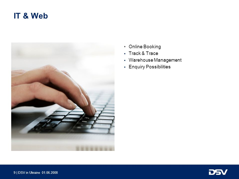 IT & Web Online Booking Track & Trace Warehouse Management