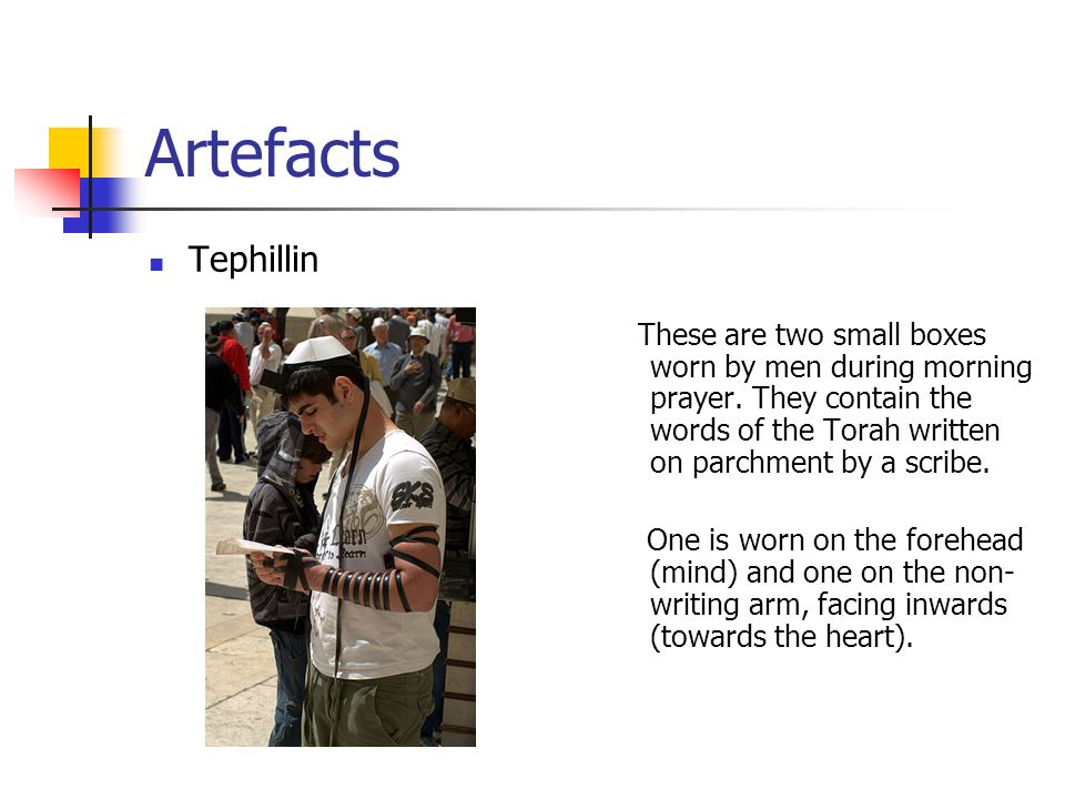 Artefacts Tephillin.