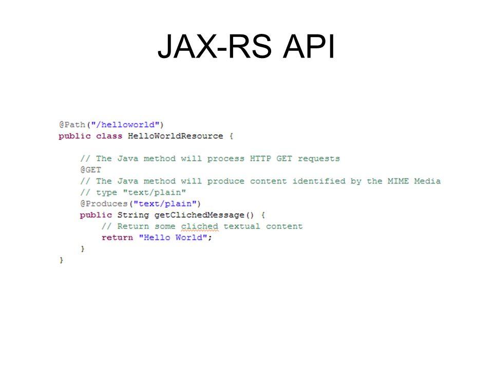 JAX-RS API