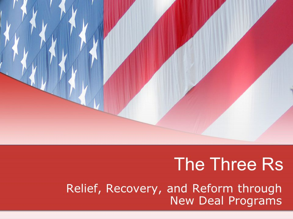 Relief, Recovery, and Reform through New Deal Programs