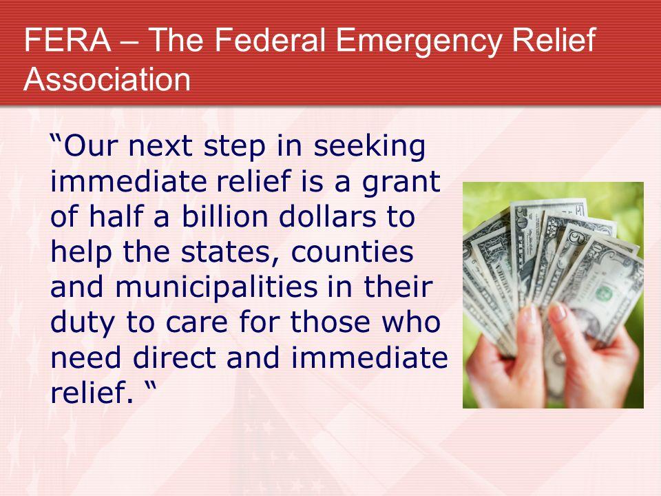 FERA – The Federal Emergency Relief Association