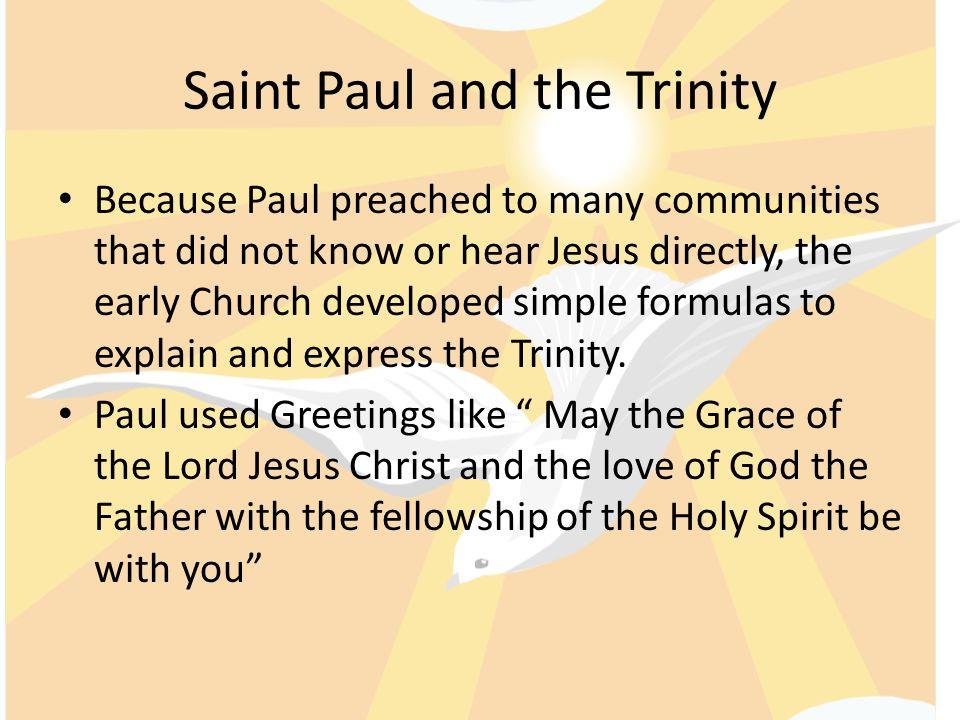Saint Paul and the Trinity