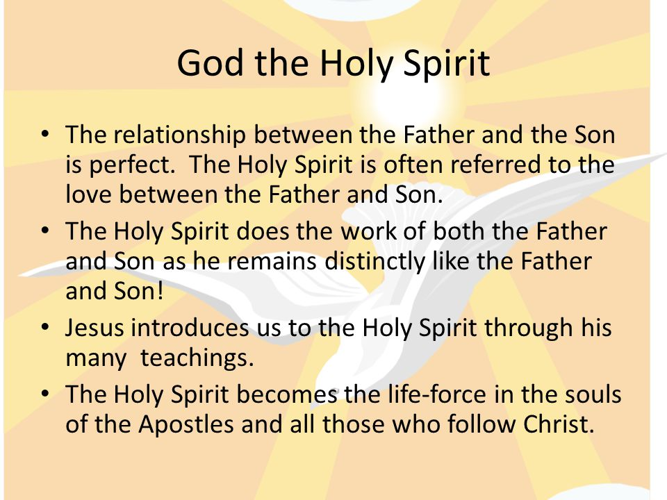 relationship between god the father son and holy spirit