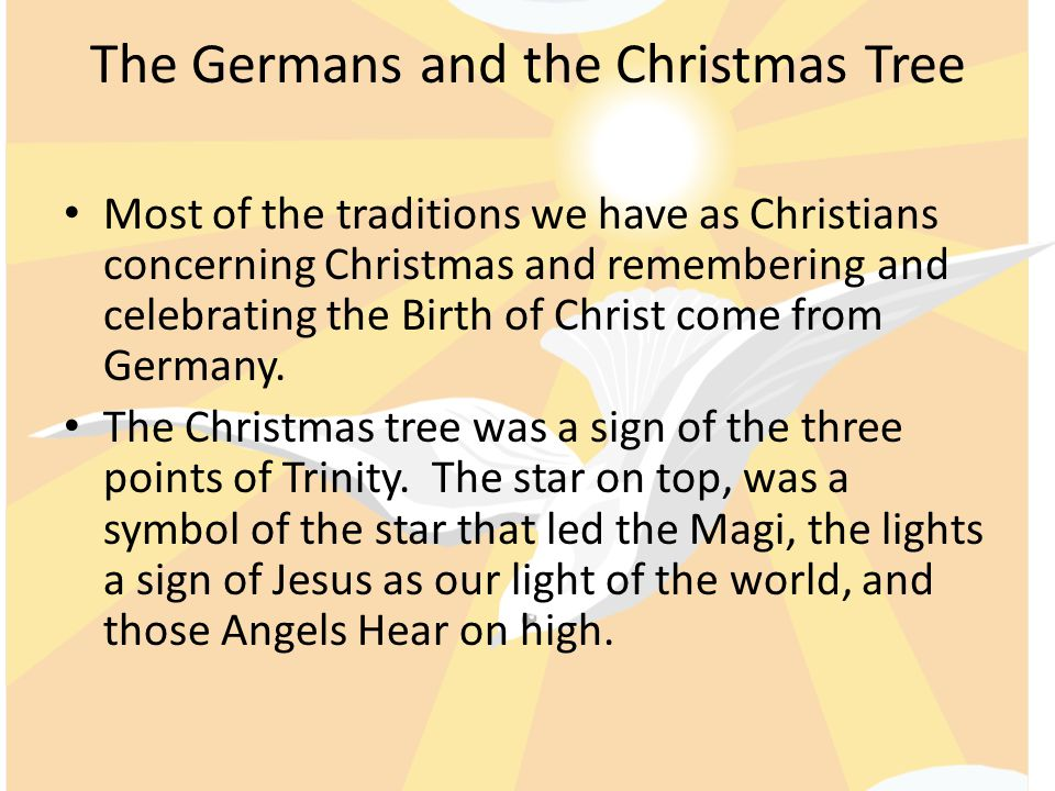 The Germans and the Christmas Tree