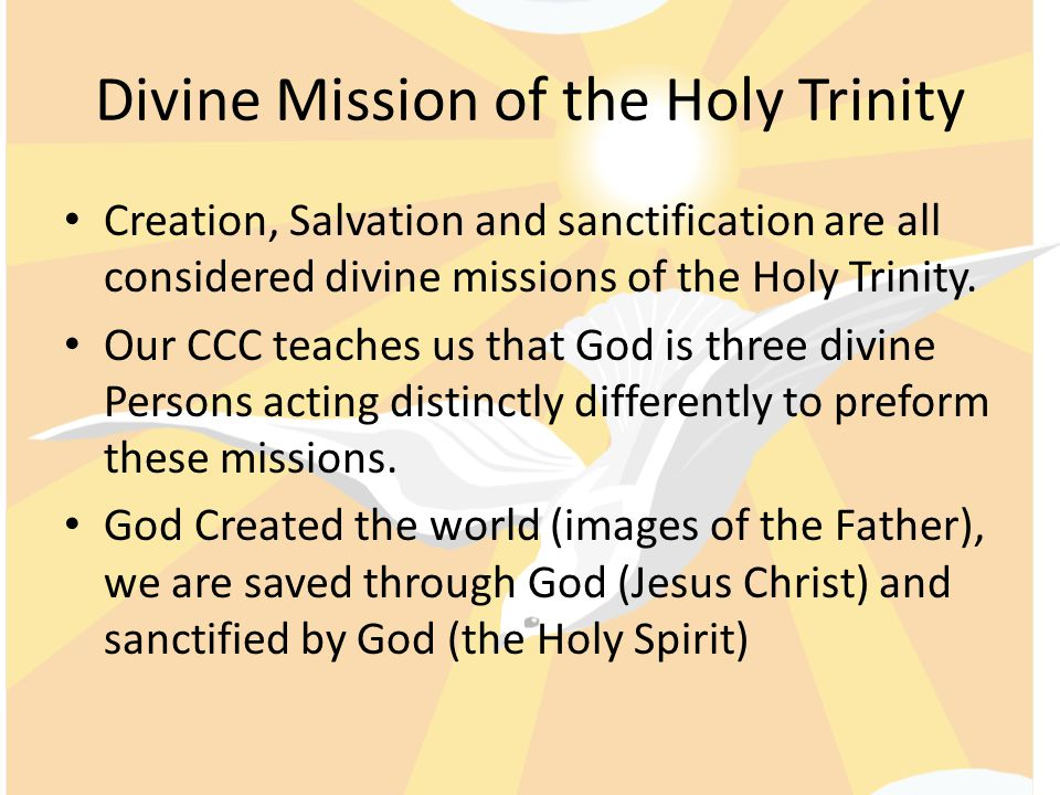 Divine Mission of the Holy Trinity