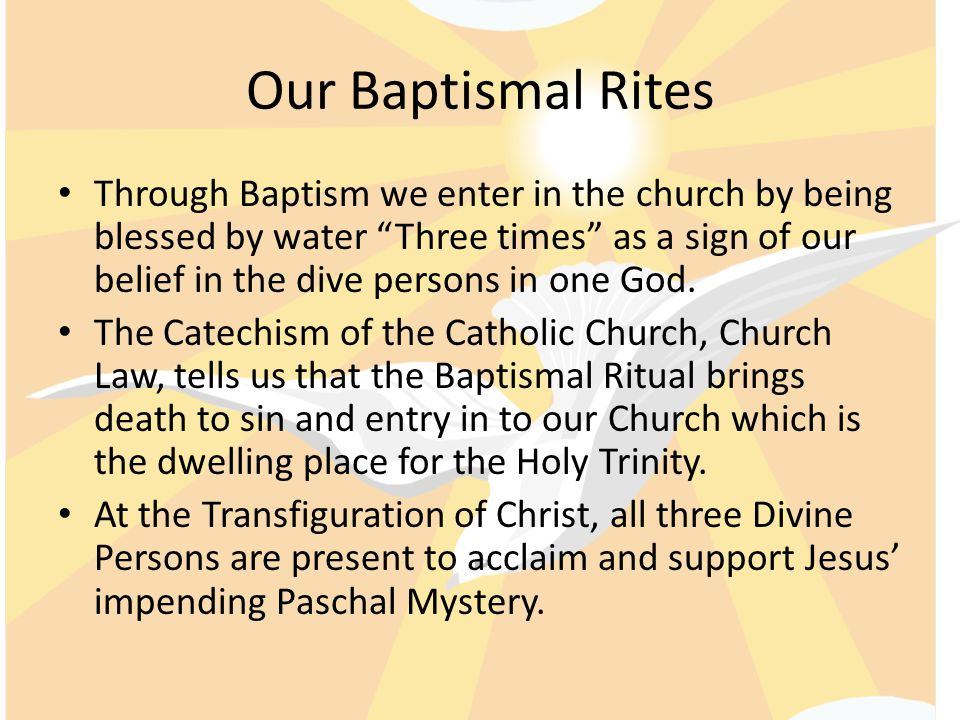 Our Baptismal Rites