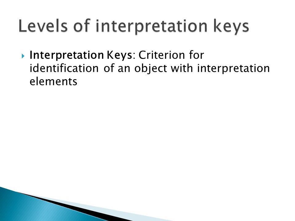 Levels of interpretation keys